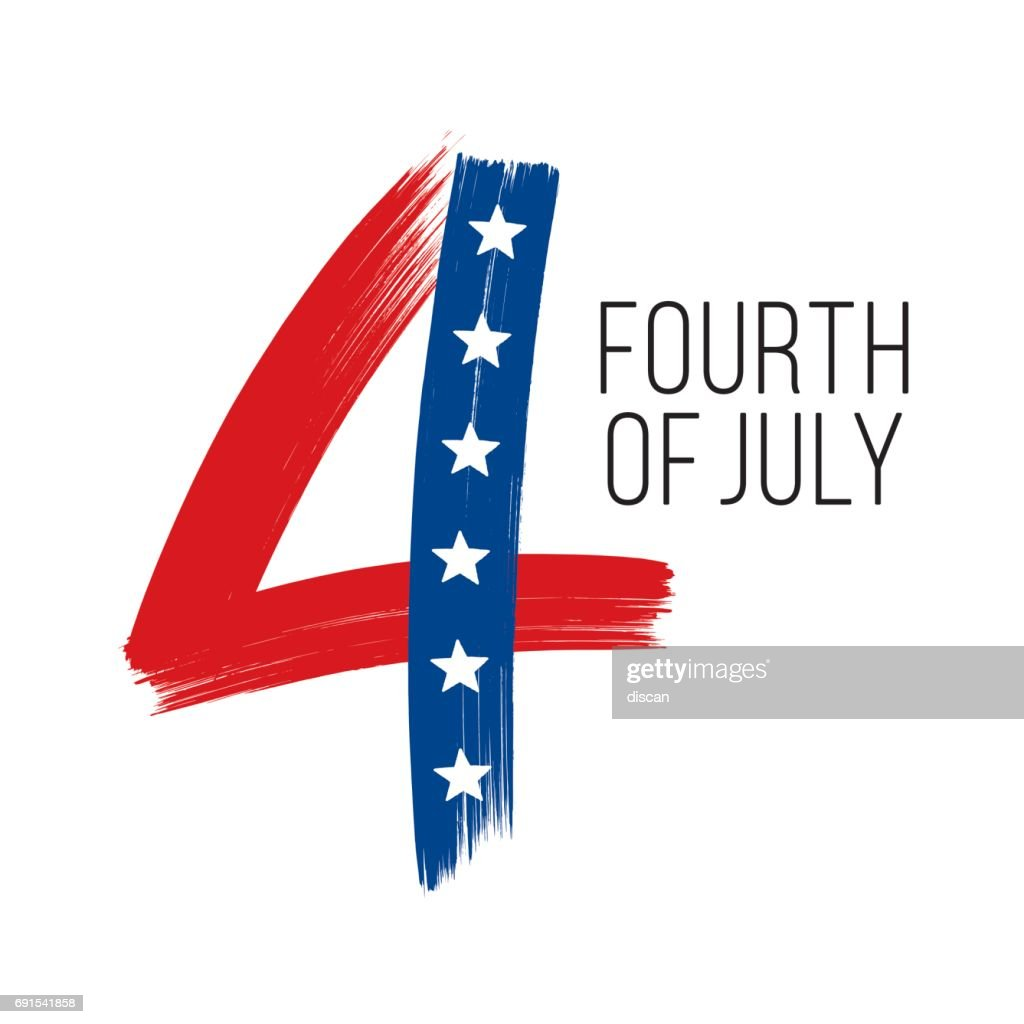 4th of july : stock illustration
