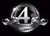 4th silver anniversary logo