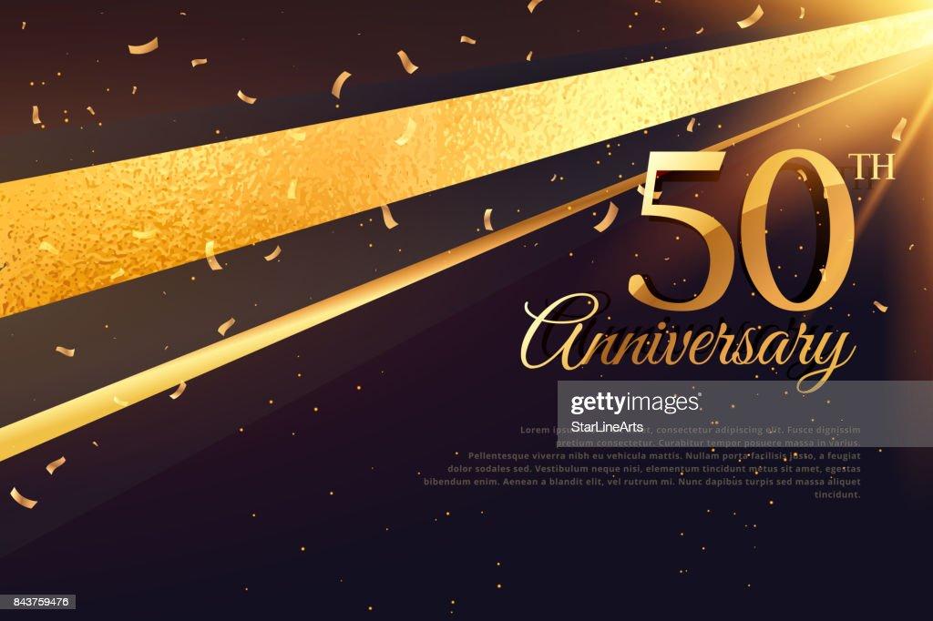 50th anniversary celebration card template