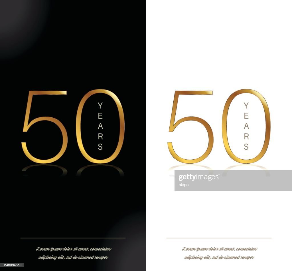 50th anniversary decorated invitation / greeting card template.