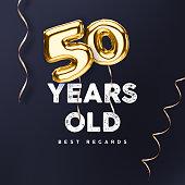 50th anniversary vector illustration for happy birthday congratulations