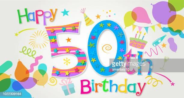 第 50 誕生日のあいさつ - 30歳の誕生日点のイラスト素材/クリップアート素材/マンガ素材/アイコン素材