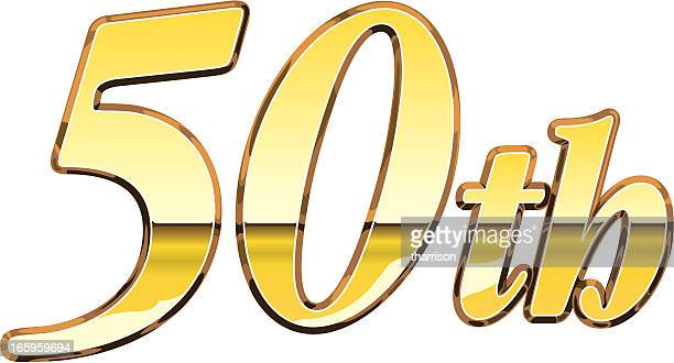50th sign - 50th anniversary stock illustrations