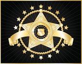 5-star police badge