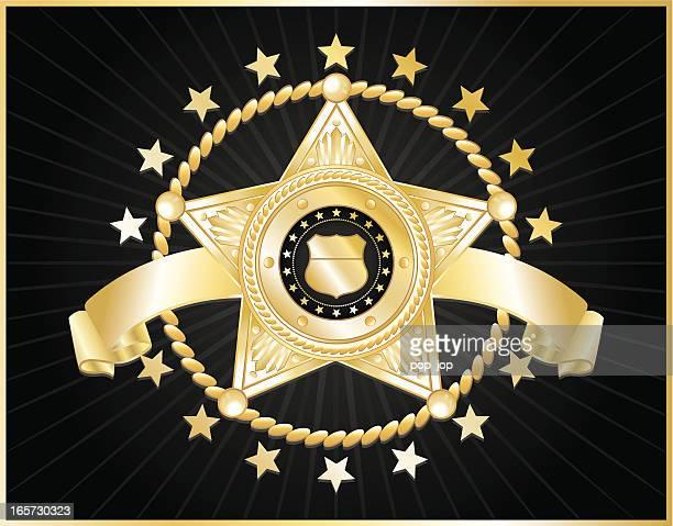 5 つ星の警察のバッジ - 保安官点のイラスト素材/クリップアート素材/マンガ素材/アイコン素材