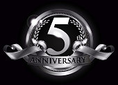 5th silver anniversary logo
