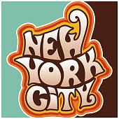 60s 70s new york city funky lettering.