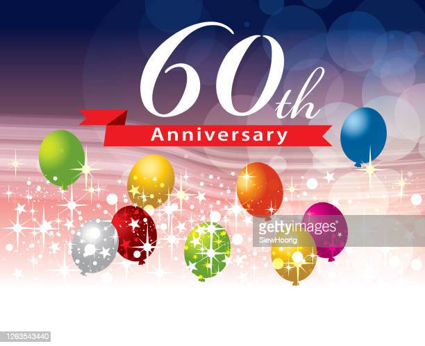 60th anniversary - 60th anniversary stock illustrations