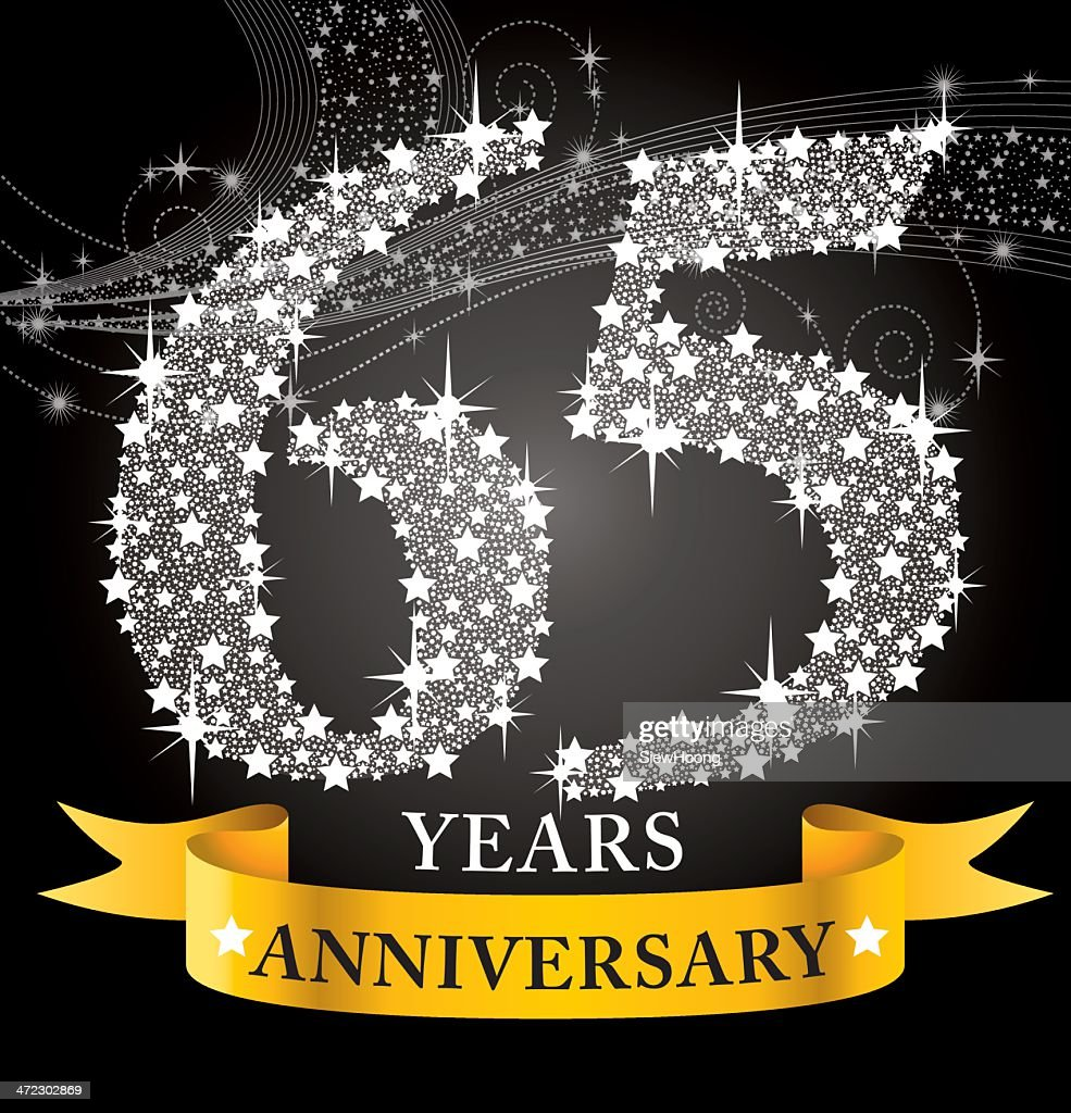 65 Wedding Anniversary Gift: 65th Anniversary High-Res Vector Graphic