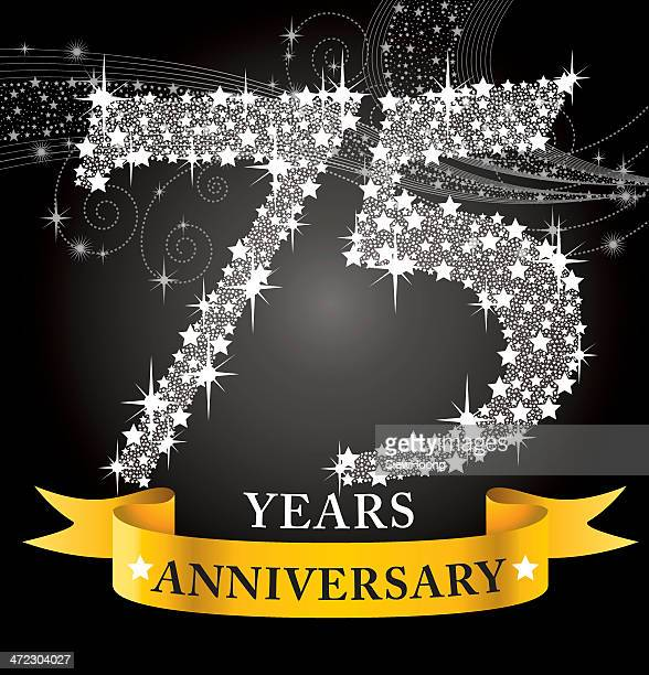 75th anniversary - 75th anniversary stock illustrations, clip art, cartoons, & icons