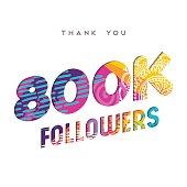 800k internet follower number thank you template