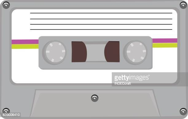 80s cassete - cassette stock illustrations, clip art, cartoons, & icons