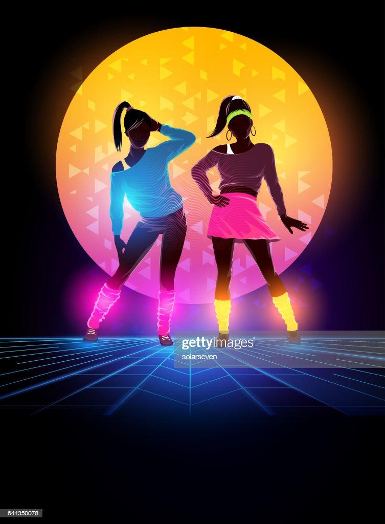 80s Dance Background