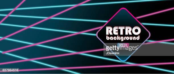 80s laser beam horizontal banner