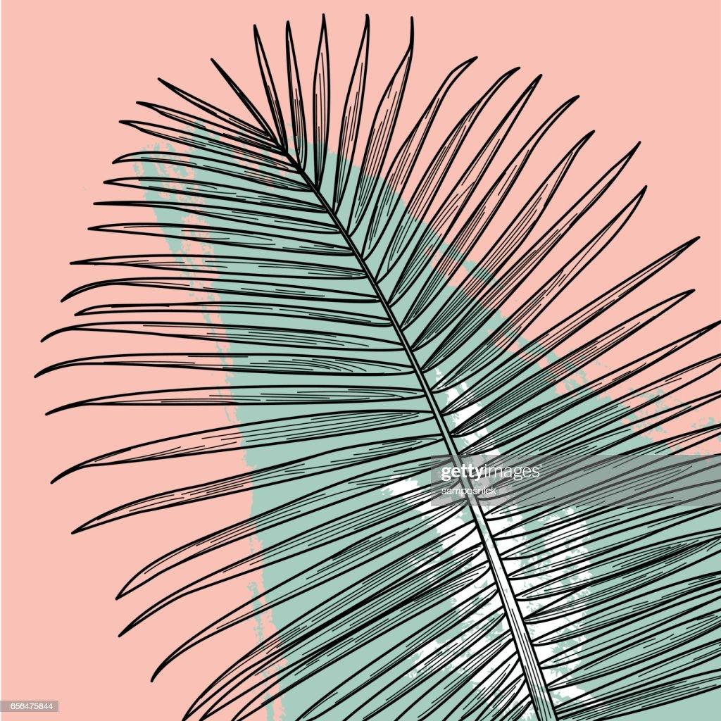 80s Palm Print