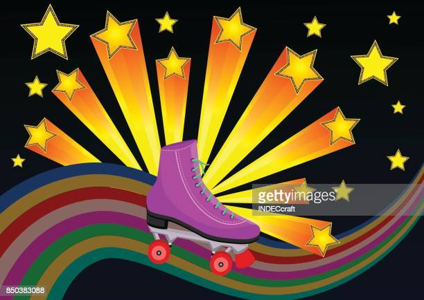 80s Roller Skates With Starburst