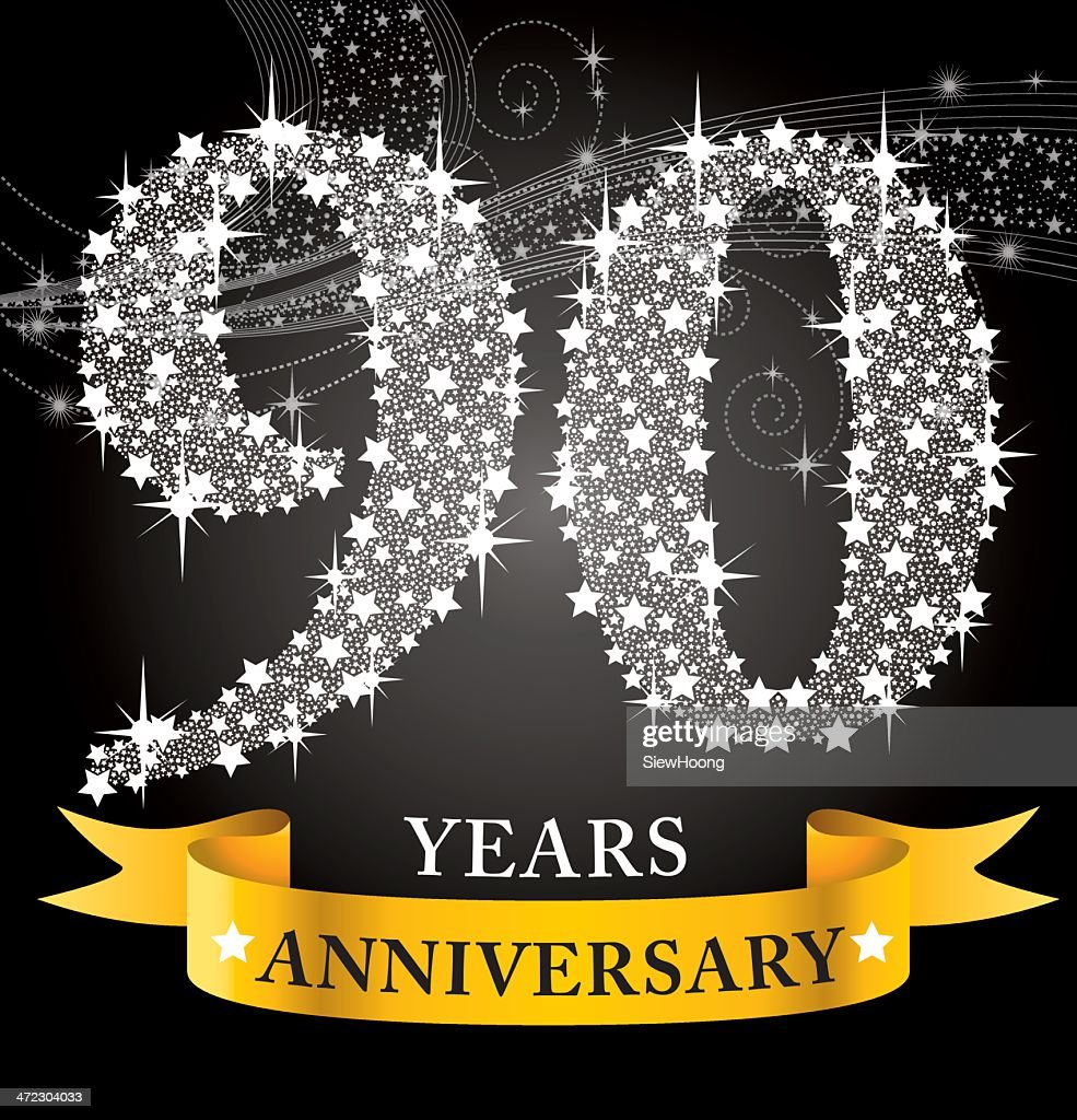 90th anniversary vector art getty images