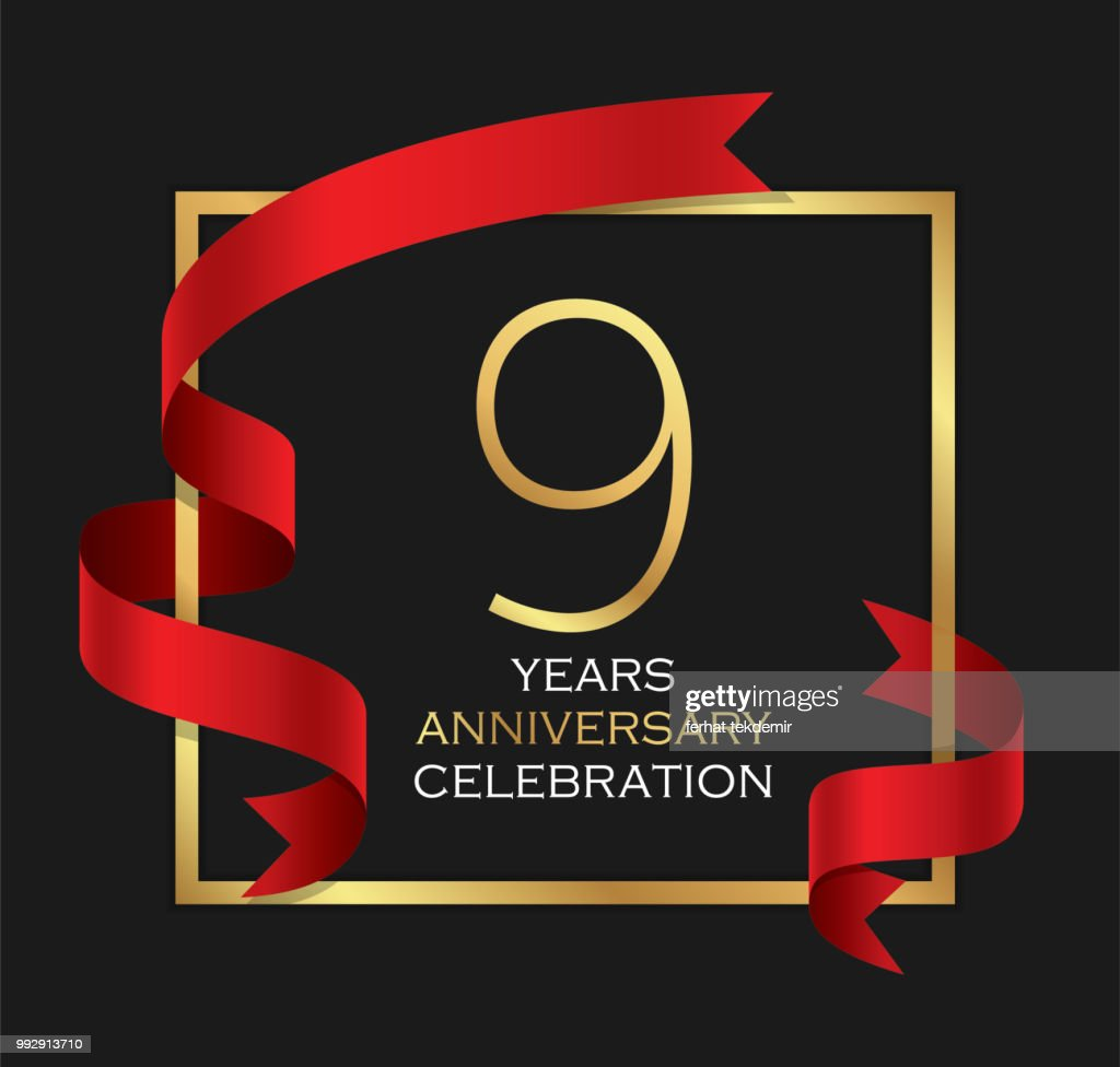9th years anniversary celebration background
