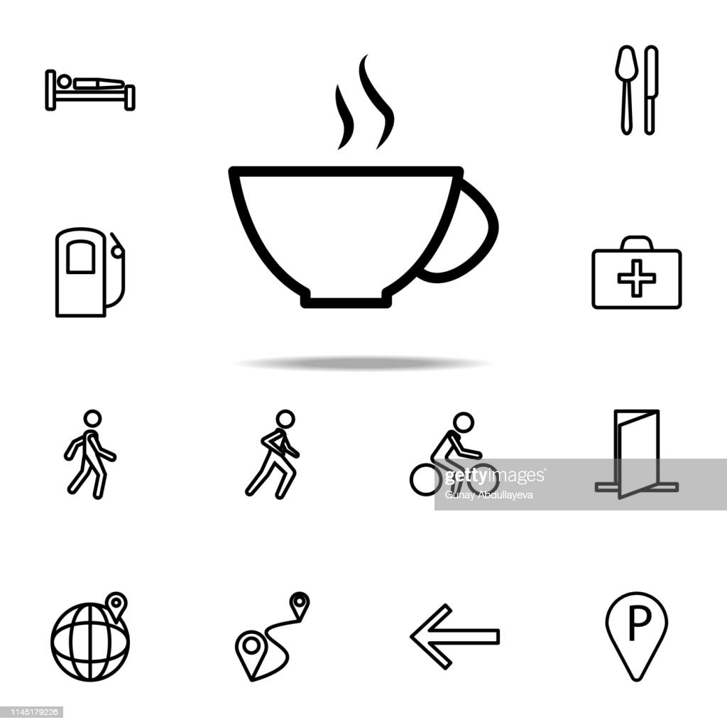 a cup of coffee icon. Navigation icons universal set for web and mobile
