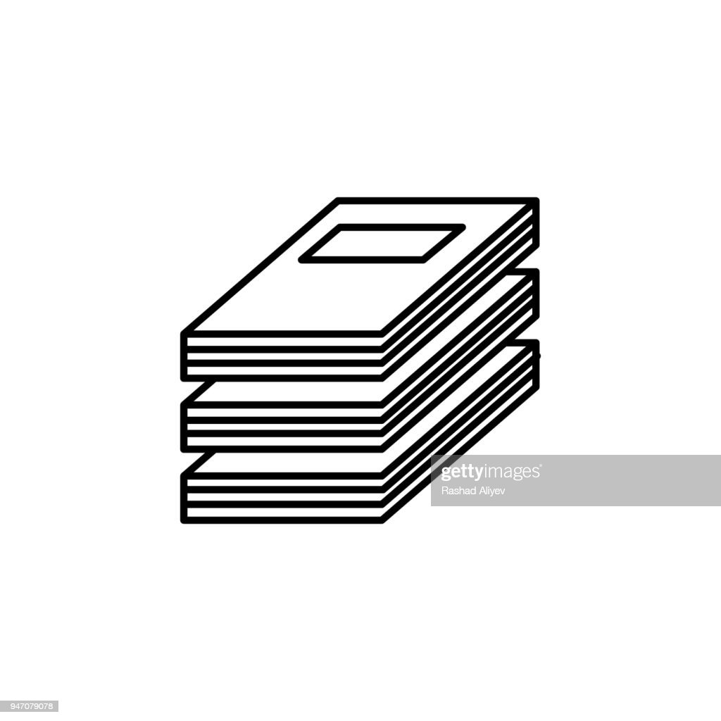 a stack of magazines icon. Element of knowledge for mobile concept and web apps. Thin line  icon for website design and development; app development. Premium icon