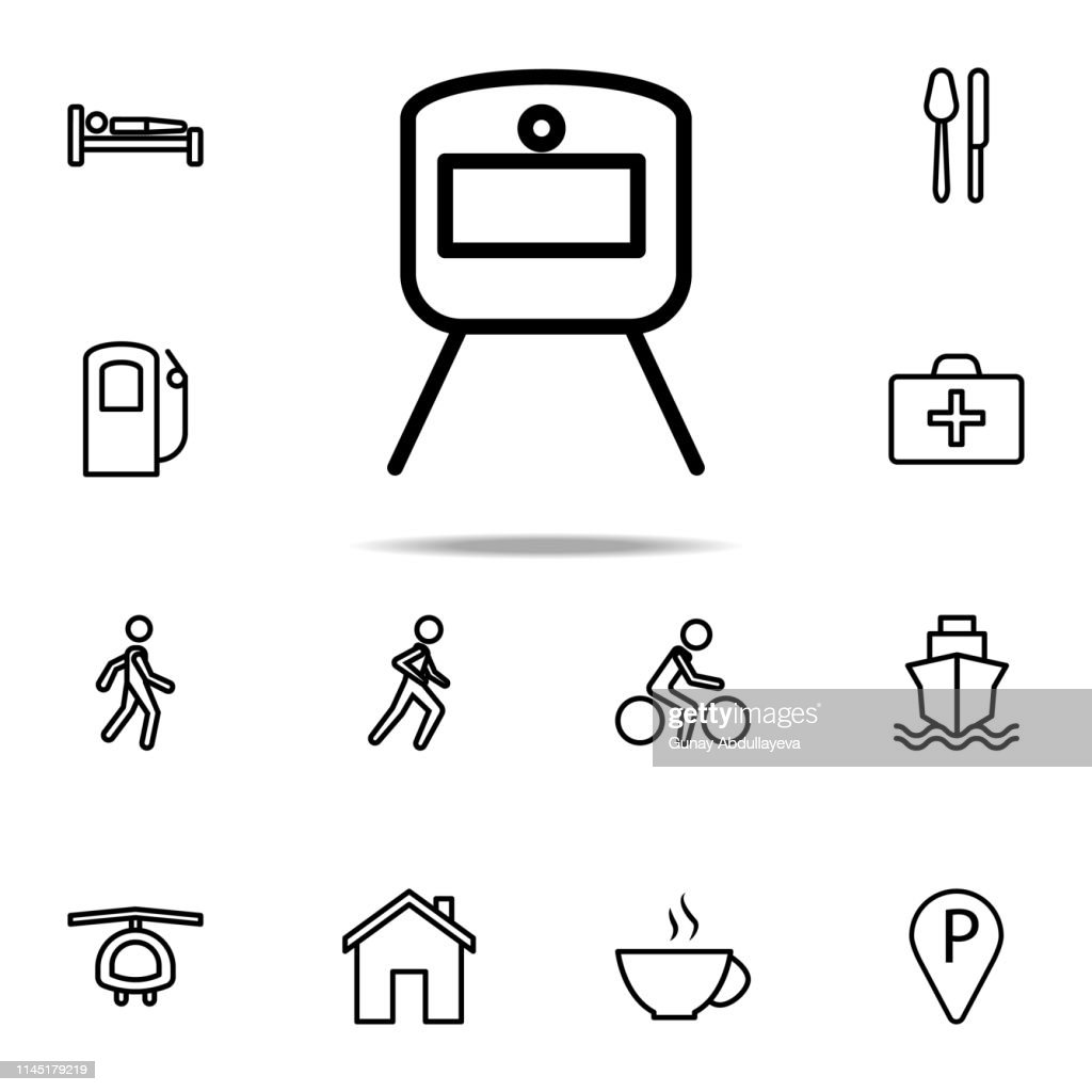 a train icon. Navigation icons universal set for web and mobile