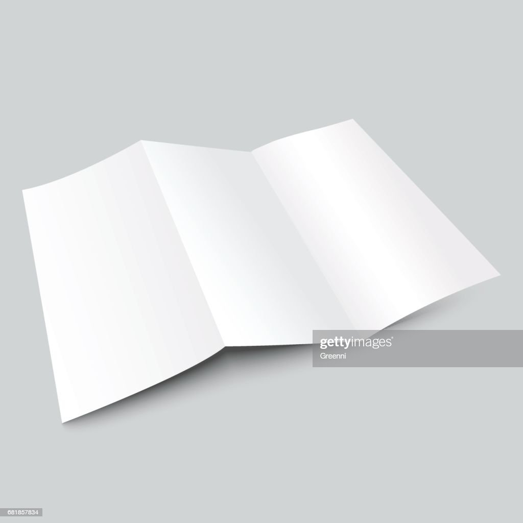 a4 blank trifold paper brochure mockup vector art getty images