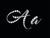 Aa Diamond Script Jeweled Font