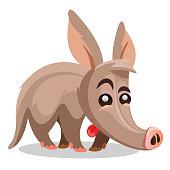 Aardvark vector illustration. A cartoon illustration of a aardvark.