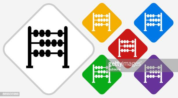 Abacus Color Diamond Vector Icon