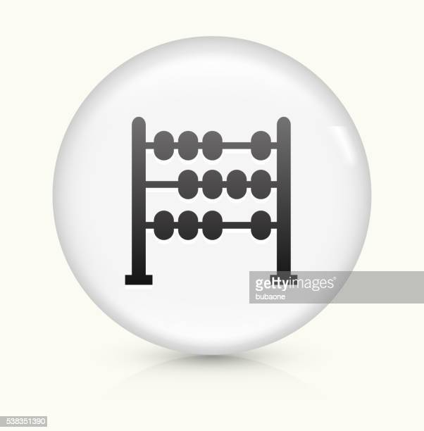 Abacus icon on white round vector button