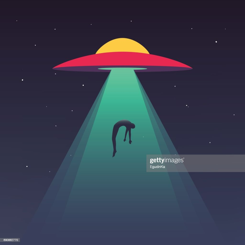 UFO abducts human