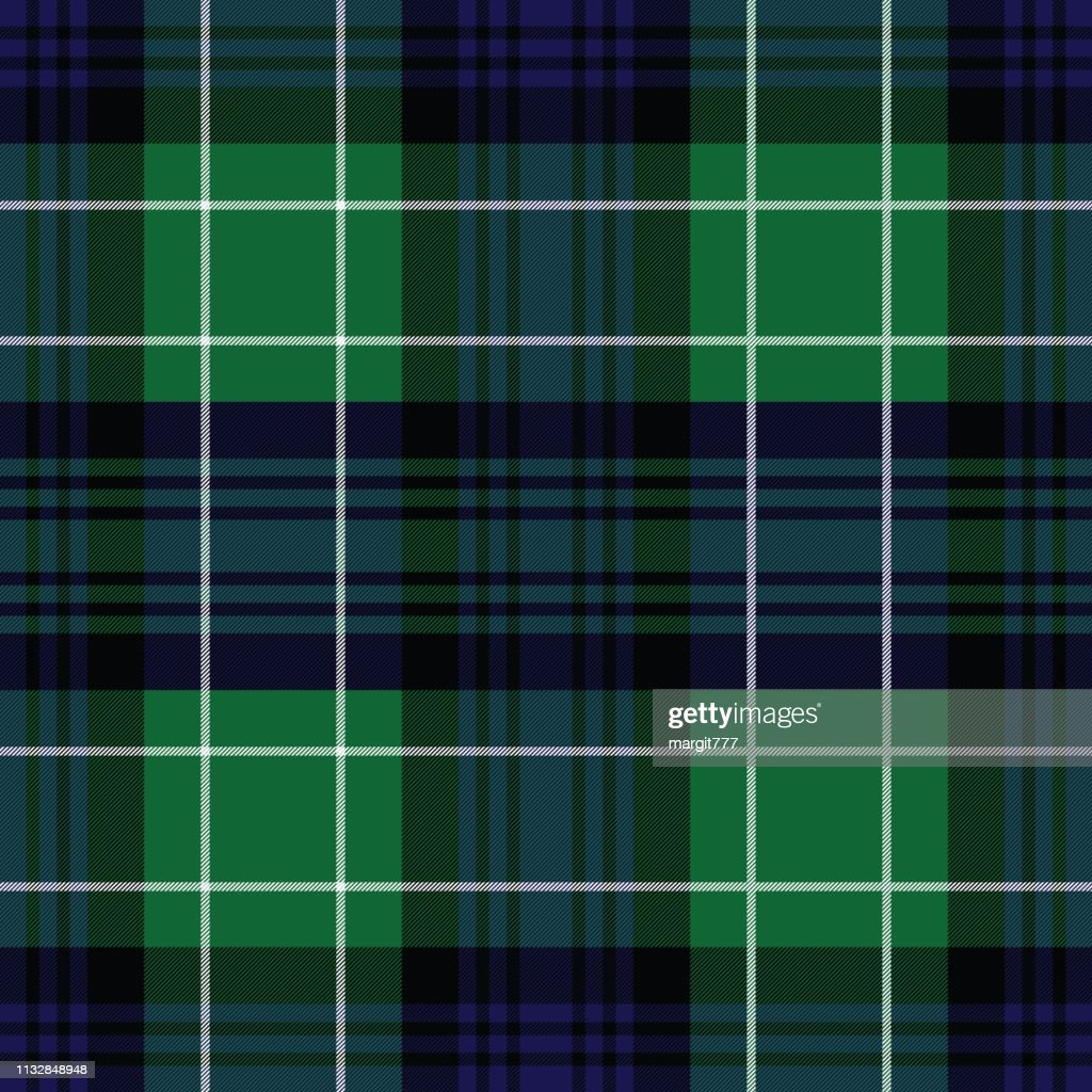 Abercrombie's modern tartan. Element for the seamless pattern for fabric, kilts, skirts, plaids. Frequent, small weaving