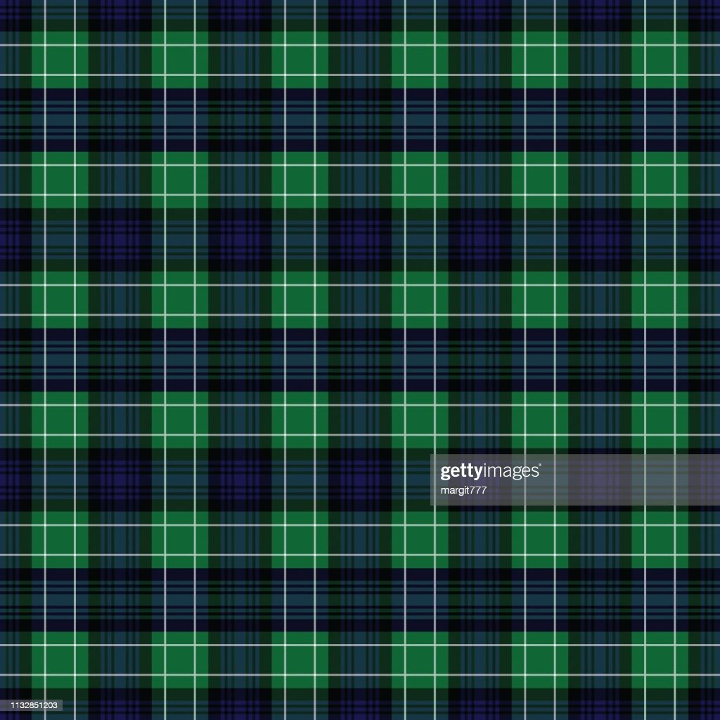 Abercrombie's modern tartan. Seamless pattern for fabric, kilts, skirts, plaids. Frequent, small weaving.