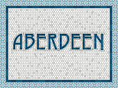 Aberdeen Old Fashioned Mosaic Tile Typography