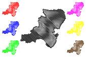 Aberdeenshire map vector