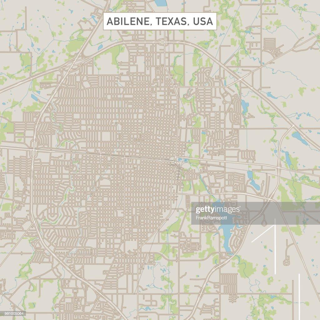 Abilene Texas US Stadt Stadtplan : Vektorgrafik