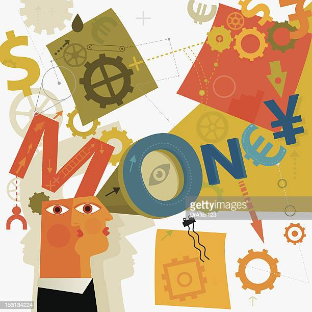 ability to see how earn money - the four elements stock illustrations