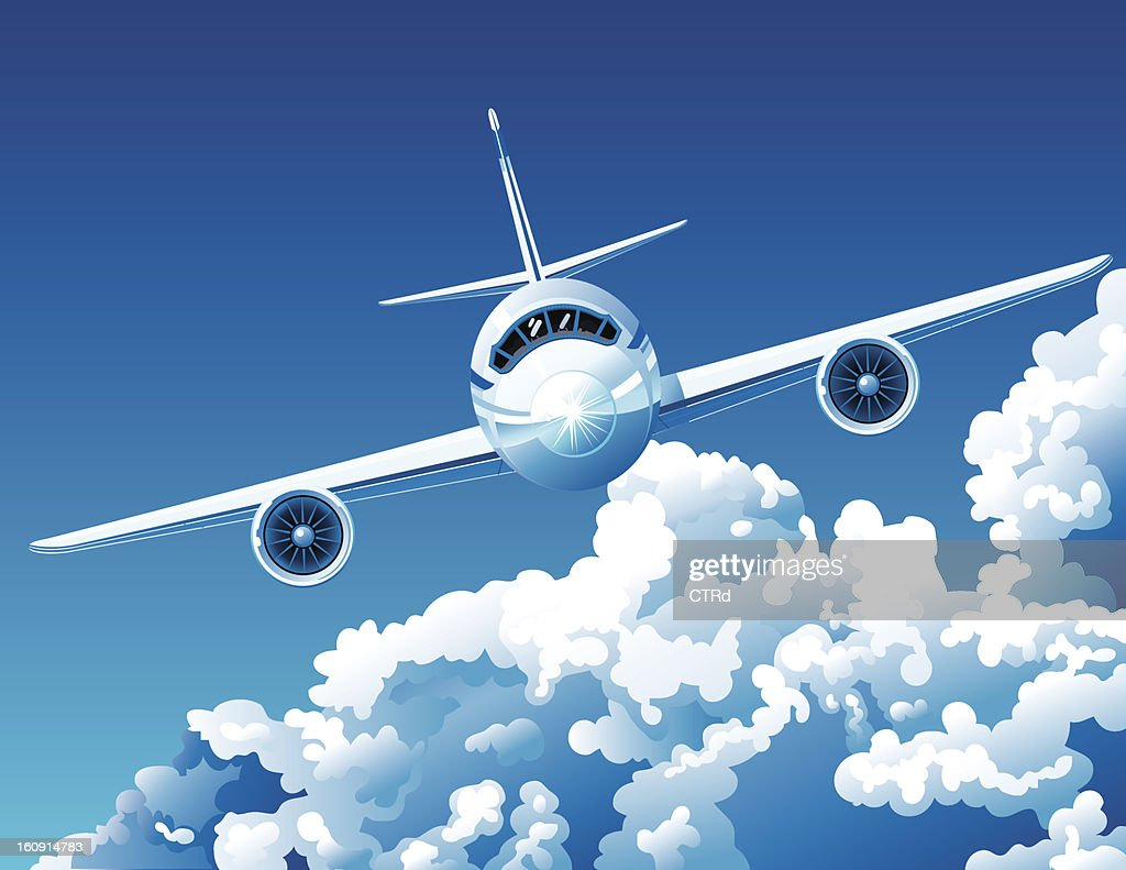 Above the clouds : Vector Art