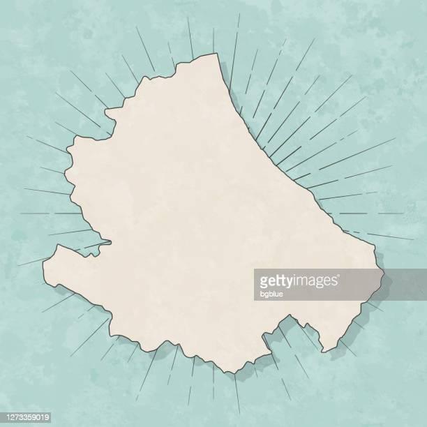 レトロなヴィンテージスタイルのアブルッツォマップ - 古いテクスチャペーパー - アブルッツォ州点のイラスト素材/クリップアート素材/マンガ素材/アイコン素材