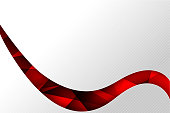 Abstact background Red curve, wave stripe line clear element 001