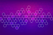 Abstact background with geometric style
