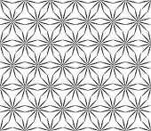 Abstact floral seamless pattern. Star shape texture. Oriental ornament in ethnic style