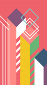 Abstact geometric background