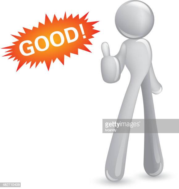 abstact man thumbs-up - applauding stock illustrations, clip art, cartoons, & icons