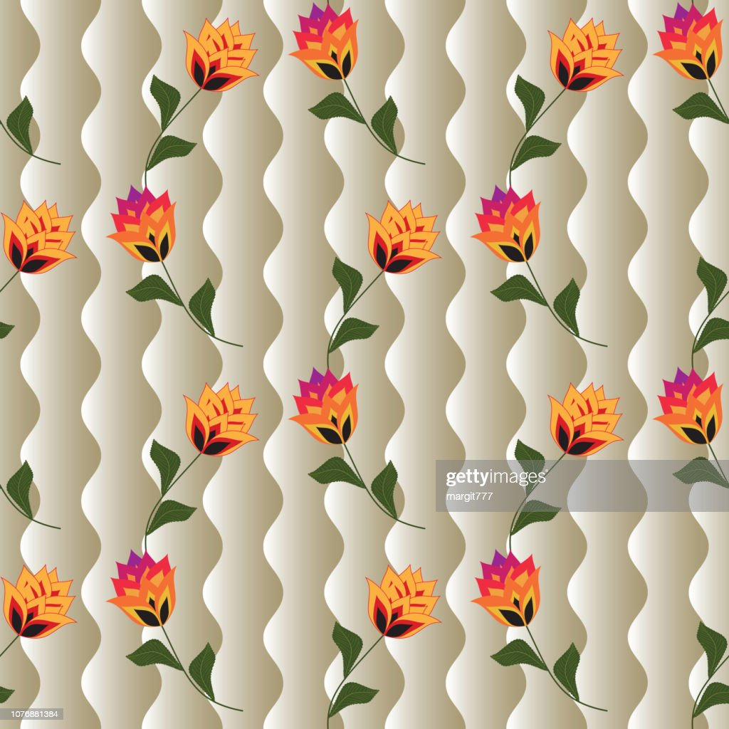 Abstact seamless background for printing on clothing and textiles. Vector image