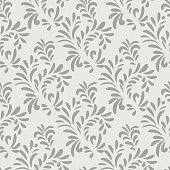 Abstact seamless pattern Floral geometric ornament Stylish ornamental background