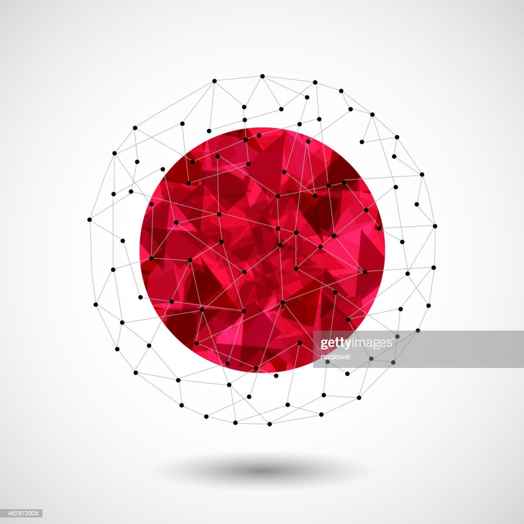 abstract 3D ball technology background