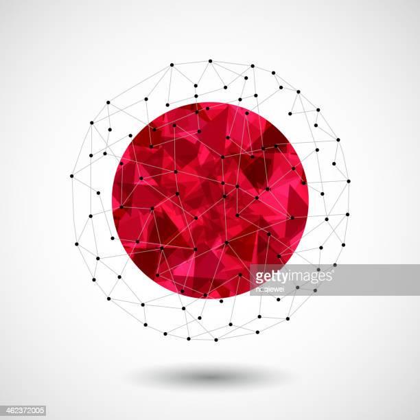 Fundo de tecnologia abstrato 3D Bola