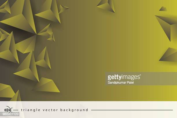 Abstract 3D Geometric, Polygonal, Triangle