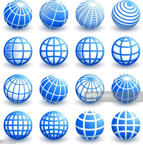 Abstract 3D Globe Designs royalty free vector graphic